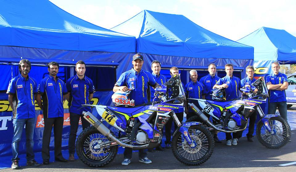 Sherco TVS Rally Racing Team presenta su equipo para el Rally Dakar 2015