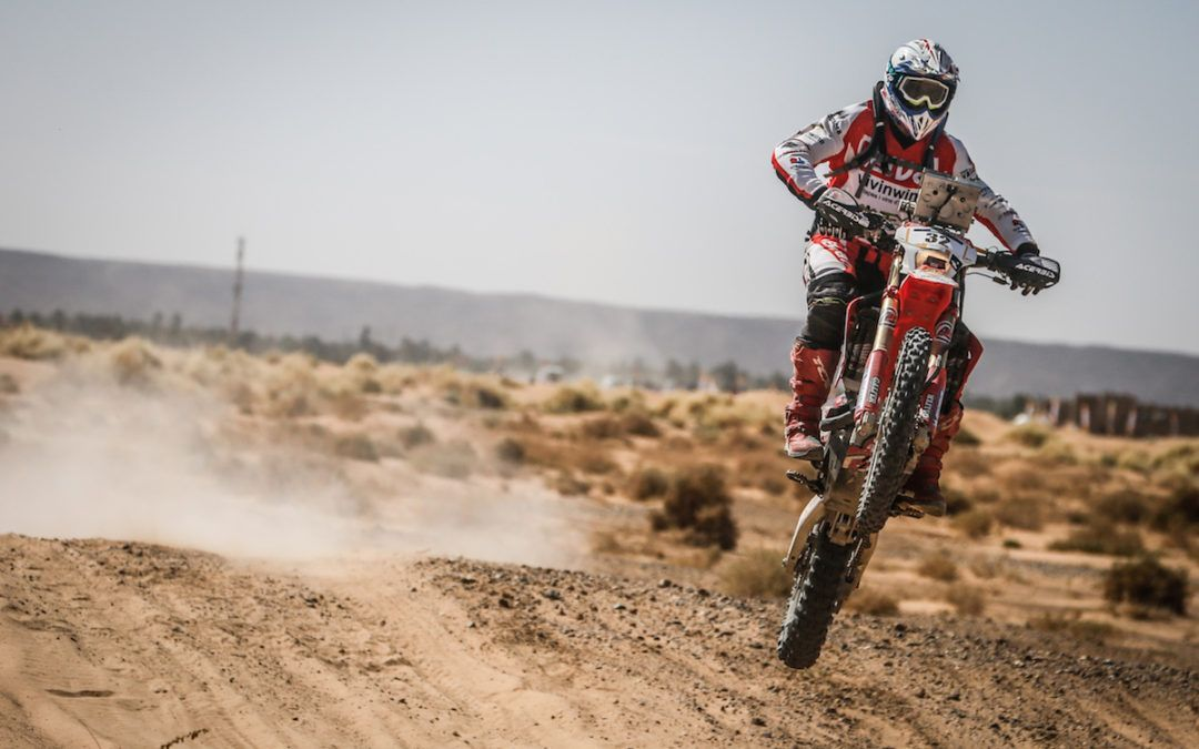 Oriol Mena en el Dakar 2018 con el Hero MotoSport Team Rally