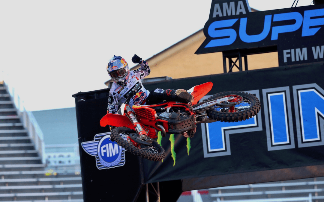 AMA Supercross Salt Lake City, Victoria de Webb y Forkner